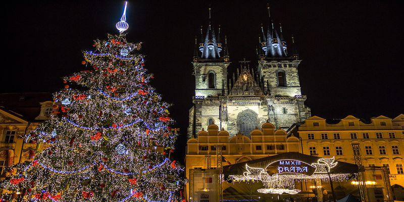 Ziemassvētku Prāga.